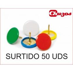 CHINCHETAS COLORES SURTIDOS 50 UDS ARTES