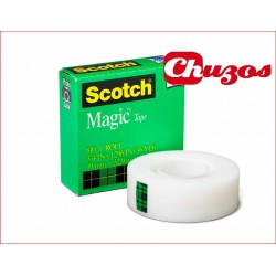 CINTA ADHESIVA INVISIBLE 33ML X 19MM SCOTCH MAGIC CAJA VERDE SCOTCH