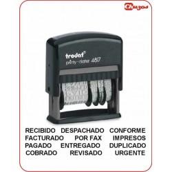SELLO VARIOS TEXTOS CON FECHADOR ROTATIVO 4817, TRODAT