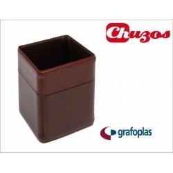 CUBILETE PORTALAPICES PVC MARRON 09244640 GRAFOPLAS