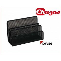 ORGANIZADOR CARTAS REJILLA NEGRO PRYSE