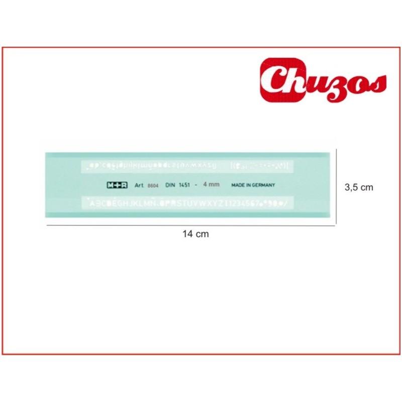 Plantilla Letras y numeros normografo 0.3mm |www.chuzos.es