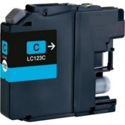 CARTUCHO TINTA BROTHER LC123 CYAN COMPATIBLE