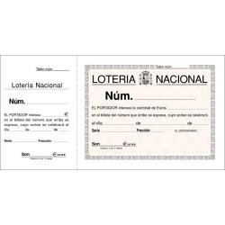 LOAN TALONARIO LOTERIA T15 1/3 APAISADO MATRIZ