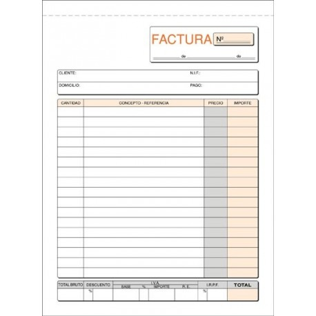 Loan Talonario Facturas Triplicado T65 A5 Vertical | www ...