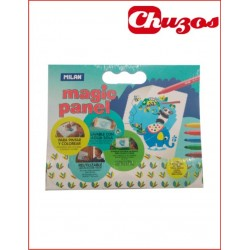 LAMINA LAVABLE MAGIC PANEL+ 5 ROTULADORES 0699305 MILAN