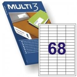 ETIQUETA A4 MULTI3 100 HJS 48,5 X 16,9 MM 10490