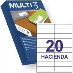 ETIQUETA A4 MULTI3 100 HJS 105 X 29 MM 10502