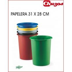 PAPELERA CILINDRICA PLASTICO FAIBO