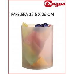 PAPELERA PLASTICO BLANCO TRASLUCIDO ARCHIVO 2000