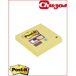 NOTAS ADHESIVAS POST IT SUPER STICKY AMARILLO 76X76MM 3M