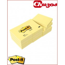NOTAS ADHESIVAS AMARILLAS 38X51MM 12 UDS 100HJS 653E POST-IT 3M
