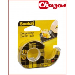 CINTA ADHESIVA DOBLE CARA SCOTCH 12 MM X 6,3 M 136D 3M