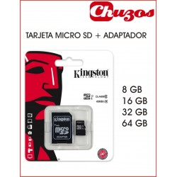 TARJETA MICRO SD MAS ADAPTADOR CLASS 10 SDC10G2 KINGSTON