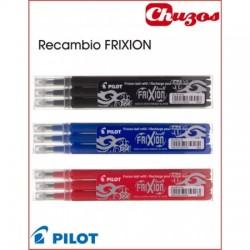 RECAMBIO BOLIGRAFO PILOT FRIXION BORRABLE 3 UDS