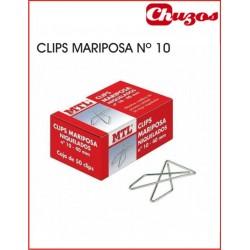 CLIPS MARIPOSA Nº10 CAJA 50 UDS 40 MM LONGITUD MTL