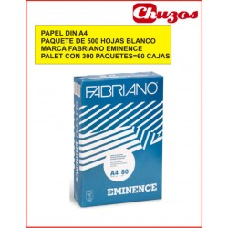 PAPEL A4 80 GRS BLANCO 500 HJS FABRIANO EMINENCE PALET 300 PAQUETES 500 HJS