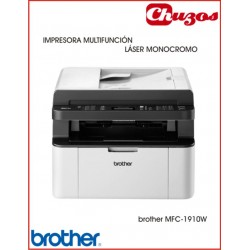 IMPRESORA MULTIFUNCION BROTHER MFC-1910W LASER MONOCROMO
