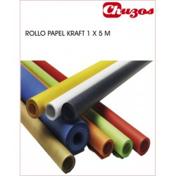 ROLLO PAPEL KRAFT 1 X 5M COLORES SADIPAL