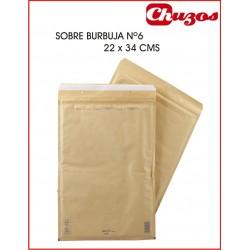 SOBRE BURBUJA Nº 6, 22 X 34 CMS