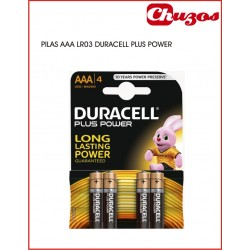 DURACELL PILA LR03 AAA PACK 4 UDS PLUS POWER