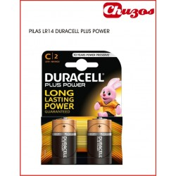 DURACELL PILA MN1400 PLUS POWER LR14 PACK 2 UDS