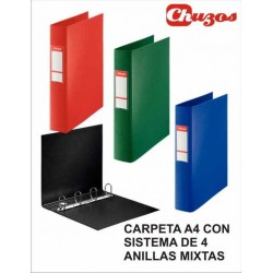 CARPETA 4 ANILLAS 40 MM FOLIO ESSELTE