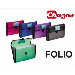 CARPETA ACORDEON FOLIO 13 DPTOS POLIPROPILENO CIERRE BROCHE FOLDERMATE