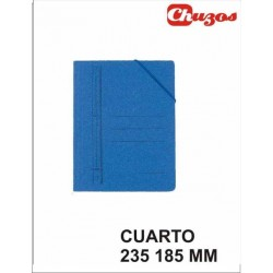 CARPETA CARTON AZUL 4º KARMAN