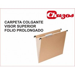 CARPETA COLGANTE FOLIO PROLONGADO VISOR SUPERIOR BICOLOR GRAFOPLAS
