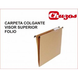 CARPETA COLGANTE FOLIO VISOR SUPERIOR KRAFT GRAFOPLAS
