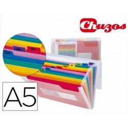 CARPETA FUELLE A5 13 DEPARTAMENTOS LIDERPAPEL