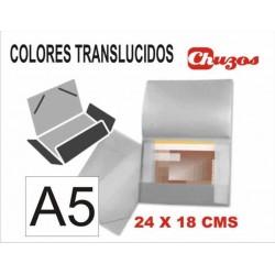 CARPETA PLASTICO RIGIDO A5 LIDERPAPEL