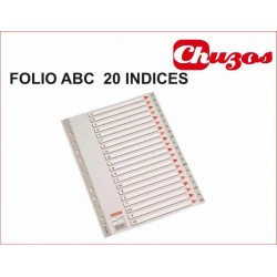 SEPARADOR ALFABETICO FOLIO NATURAL PVC ESSELTE