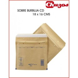 SOBRE BURBUJA CD 18 X 16 CMS