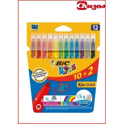 ROTULADORES BIC KIDS LAVABLES 12 UDS