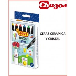 CERAS CERAMICA Y CRISTAL JOVI DECOR GLASS 6 UDS 1906