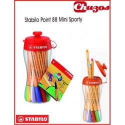 ROTULADORES STABILO POINT 88 MINI ESTUCHE SPORTY 18 UDS