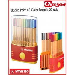 ROTULADORES STABILO POINT 88 SET 20 UDS COLOR PARADE