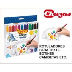 ROTULADORES TEXTILES JOVI DECOR L5015 12 UDS