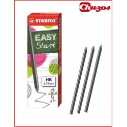 MINAS GRAFITO 3,15 MM HB STABILO EASY START 6 MINAS