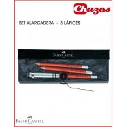 SET LAPICES FABER CASTELL PERFECTO MARRONES CON ALARGADERA