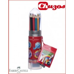LAPICES COLORES FABER CASTELL COLOUR GRIP COHETE MAS AFILA 15 UDS