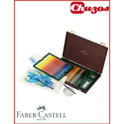 LAPICES COLORES FABER CASTELL ACUARELABLES ESTUCHE MADERA 48 UDS