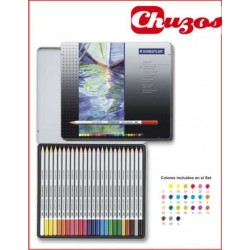 LAPICES COLORES STAEDTLER ACUARELABLES CAJA METAL 24 UDS