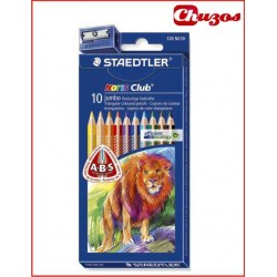 LAPICES COLORES JUMBO STAEDTLER NORIS CLUB 128NC 10 UDS
