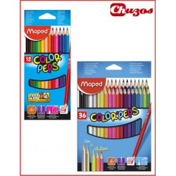 LAPICES COLORES MAPED COLOR 'PEPS ESTUCHE CARTON
