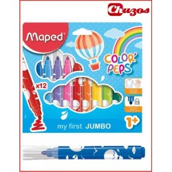 ROTULADORES JUMBO MAPED COLOR 'PEPS 12 UDS