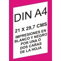 .IMPRESION BLANCO Y NEGRO A4