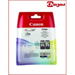 CARTUCHO TINTA CANON PG510 CL511 PACK 4 COLORES ORIGINAL